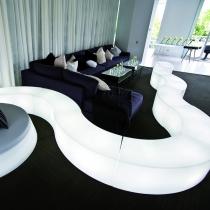 Banco com luz led, Snake, modular, 120cm de comprimento, RGB, sem cabos