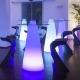 Mesa hostelería iluminada con luz led 50x120cm, RGB, sin cables, Cone
