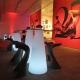 Table d'accueil illuminée avec lumière LED 50x120cm, RGB, sans fil, Cône
