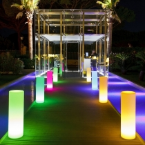 100cm LED Columns, RGB 16 color light, rechargeable