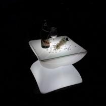 Table d'hospitalité éclairée par lumière LED, RGB, sans fil, Able