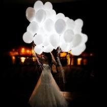 Ballons led, blanc, 30cm