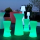 Tabouret lumineux LED, RGB, sans fil, Corfou