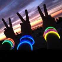 Bracelets lumineux 100 Party, Glow, Multicolore