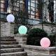 Boule, sphère avec lumière LED RGBW 20 cm, batterie rechargeable
