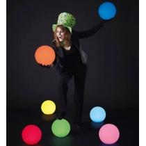 Bola luminosa led esférica 20 cm, luz 16 colores, portátil, flotante