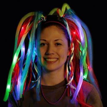 Perruque de partie légère LED, bandeau
