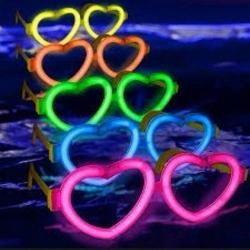 6 lunettes lumineuses de coeur de lueur