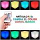 Cubo led 40 cm, luz 16 colores, portátil