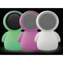 Lâmpada Alien LED 22x30 cm Alto-falante Bluetooth Luminoso Mudança de cor