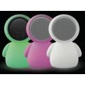 Luz Presença Lâmpada Alien LED 22x30 cm Alto-falante Bluetooth Luminoso Mudança de cor