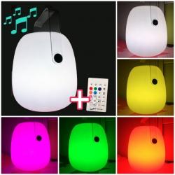 Haut-parleur Bluetooth lampe 22x30 cm, lumière LED 16 couleurs, portable