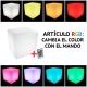 Led light cube, toutes tailles, lumière 16 couleurs