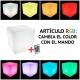 Cubo alto-falante bluetooth com luz led 16 cores portátil 40 cm
