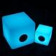 Cube Bluetooth haut-parleur LED lumineux 30cm, lumière 16 couleurs, portable