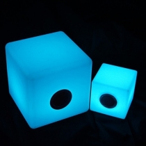 Led light bluetooth speaker cube, 30 cm, light of 16 colors, portable