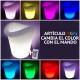Balde de gelo com luz LED 'Gôndola', luz 16 cores