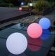 Bola luminosa led esférica 30 cm, luz 16 colores, portátil, flotante