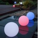 Boule, sphère avec lumière LED RGBW, 30cm, batterie rechargeable
