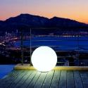 Bola luminosa led esférica 40 cm, luz 16 colores, portátil, flotante