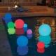 Boule, sphère avec lumière LED RGBW, 40cm, batterie rechargeable