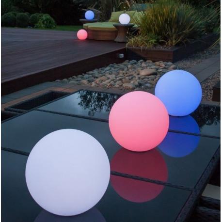 Bola luminosa led esférica 35 cm, luz 16 colores, portátil, flotante
