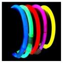 100 bracelets lumineux partie lueur 1 couleur, différentes couleurs disponibles