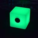 Cubo Altavoz bluetooth luminoso led 40 cm, luz 16 colores, portátil