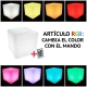 Bandeja led RGB, luz 16 colores, con mando y batería recargable
