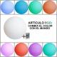 Bola luminosa led esférica 80 cm, luz 16 colores, portátil