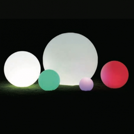 Bola luminosa led esférica 60 cm, luz 16 color, flotante