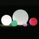 Boule, sphère avec RWBW 60 cm lumière LED, batterie rechargeable