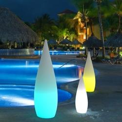 Lampe lumineuse led 'Gota', lumière 16 couleurs, portable