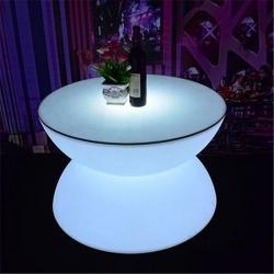 Mesa hostelería iluminada con luz led RGB sin cables, Lounge Bar, 60cm