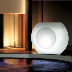 Led macetero LED 'Alboran' L110x68xH90cm, lumière 16 couleurs, rechargeable
