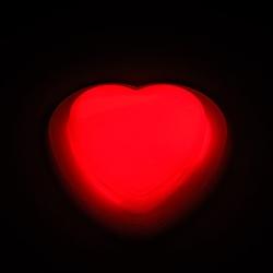 Pin de coeur lumineux de lueur (10 unités)