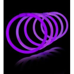 100 Pulseras luminosas fiesta, glow, moradas