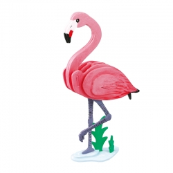 3D painting puzzle Flamingo