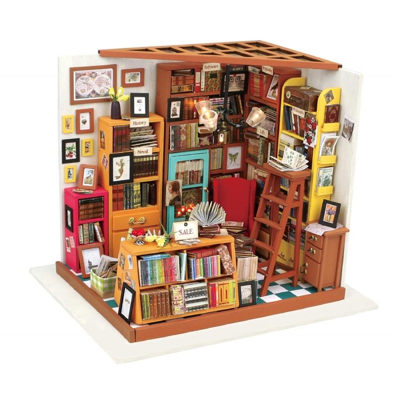 DIY Miniatura Casita Muñecas Estudio Biblioteca Maqueta