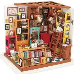 DIY miniature dollhouse kit Sam's Study