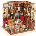 DIY Miniatura Casita Muñecas Estudio Biblioteca