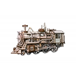 3D Assembly Wooden Puzzle Laser-Cut Locomotive Kit