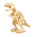 Sound Control Robot and Walking Trex Dinosaur 3D Wooden Craft Kit Puzzle for Kids