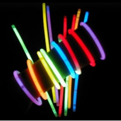 Pulseras fiesta luminosas, glow, 50 unidades