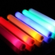 Led luminous party foam sticks multicolor 48x4cm