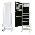 Mirror with Led light with standing jewelry cabinet Audrey
