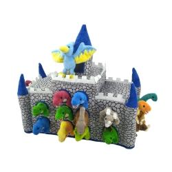 Castillo de peluche con 19 muñecos: Dinosaurios