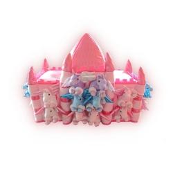 Castillo de peluche con 19 muñecos: Unicornios