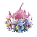 Castillo de peluche con 8 muñecos: Unicornios Lite