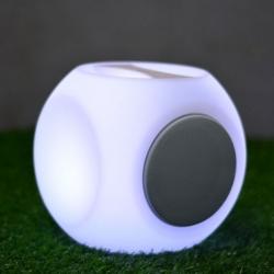 Cubo Alto-falante Bluetooth, 20cm, luz Led RGB, bateria recarregável